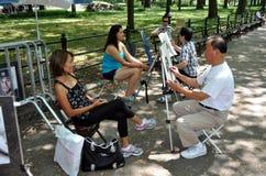 asiatisk central nycpark för konstnärer royaltyfri bild