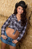 asiatisk cowgirl Fotografering för Bildbyråer