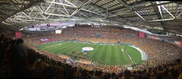 Asiatisk cupfinal 2015 AUS-KOR Arkivfoto
