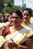Asiatisk damtoalett i karneval royaltyfria foton