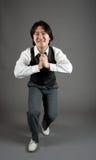 asiatisk dansarejazzmanlig Arkivfoton