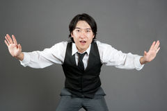 asiatisk dansarejazzmanlig Royaltyfri Bild