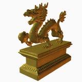 asiatisk drakestaty Royaltyfri Illustrationer