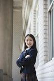 asiatisk elementär schoolgirl Arkivbilder