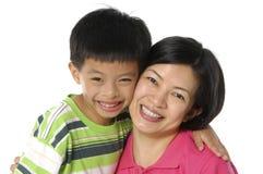 asiatisk familj Royaltyfria Bilder
