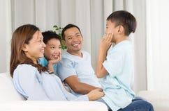 asiatisk familj royaltyfria foton