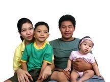 asiatisk familjserie arkivfoto