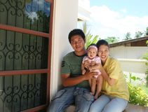asiatisk familjserie Arkivbild