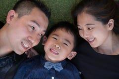 asiatisk familjstående Arkivbild