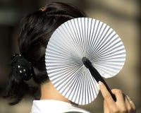 Asiatisk fan Royaltyfria Foton