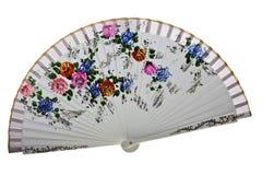 Asiatisk fan på vit bakgrund Royaltyfri Fotografi