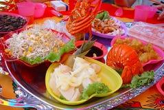 asiatisk festmåltid Arkivbild
