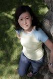 asiatisk flicka arkivbild