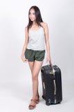 Asiatisk flicka i loppbegrepp Royaltyfri Fotografi