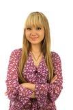 asiatisk flicka isolerad jpgstående Arkivbild