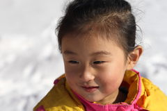 asiatisk flicka little royaltyfria foton