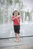 asiatisk flicka little Arkivfoton