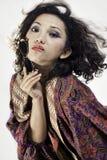 Asiatisk flicka med gammala exponeringsglas 5 Royaltyfri Foto