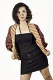 Asiatisk flicka med gammala exponeringsglas 6 Arkivbilder