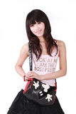 asiatisk flickahandväska Fotografering för Bildbyråer