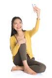 Asiatisk flickaselfie Arkivfoto