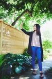 Asiatisk flickaselfie Fotografering för Bildbyråer