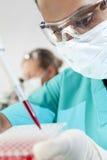 asiatisk forskare för doktorskvinnliglaboratorium royaltyfria foton