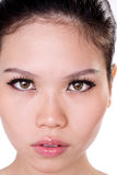asiatisk framsidakvinna royaltyfri bild