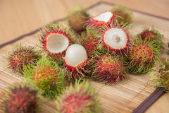 Asiatisk fruktrambutan från Thailand Arkivfoton