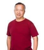 Asiatisk gamal man royaltyfri foto