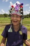 asiatisk gammal kvinna för akha Arkivfoton