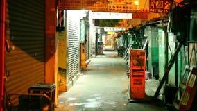Asiatisk gatamarknad arkivfilmer