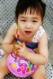 asiatisk gullig flicka Arkivbilder