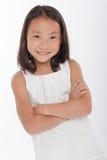 asiatisk gullig flicka little Arkivfoto
