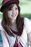 asiatisk gullig flickastående Royaltyfri Bild
