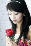 asiatisk härlig flicka Arkivbild