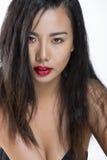 asiatisk härlig flickastående Arkivbilder
