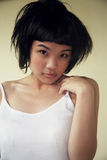 asiatisk härlig flickawhite royaltyfria bilder