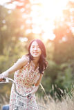 asiatisk härlig kvinna Royaltyfria Foton