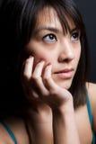 asiatisk härlig kvinna Arkivfoto
