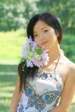 asiatisk härlig kvinnlig Arkivbild
