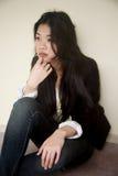 asiatisk härlig svart flicka royaltyfri foto