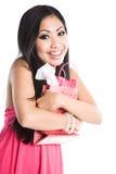 asiatisk härlig valentinkvinna Royaltyfri Fotografi