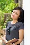 asiatisk högskolaståendedeltagare arkivfoto