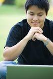 asiatisk högskolestudent Royaltyfria Bilder