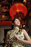 asiatisk härlig orientalisk temakvinna Arkivfoton