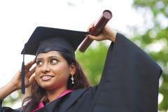 Asiatisk indisk kvinnlig deltagare royaltyfri fotografi