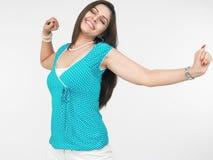 asiatisk jubilant moodkvinna royaltyfri bild