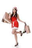 asiatisk julflicka Fotografering för Bildbyråer