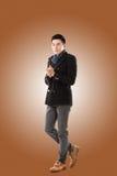 Asiatisk känselförkylning för ung man Royaltyfri Foto
